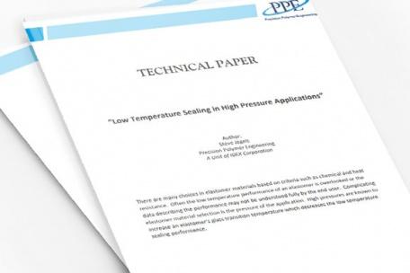 Low Temperature Sealing in High Pressure Applications