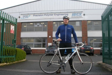 Chris Allan cycles across the French Alps for local charities