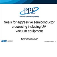 Seals for aggressive processes inc UV vacuum equipment